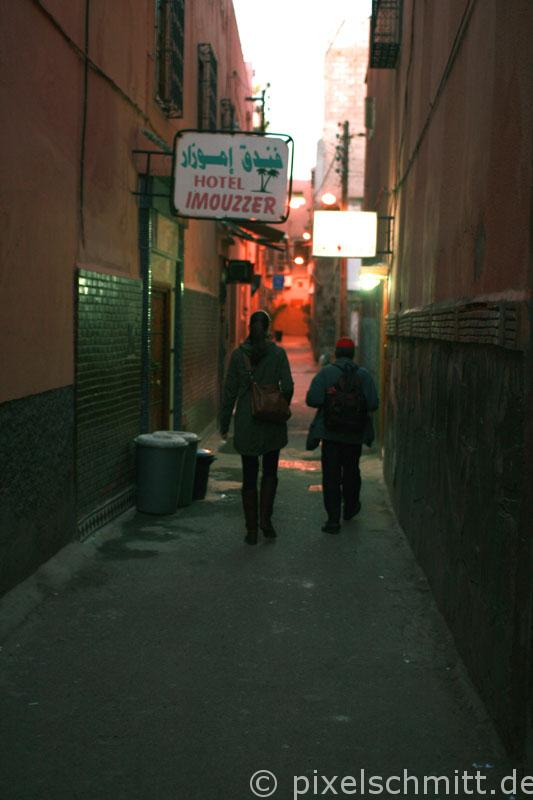 Enge Gassen in Marrakesch