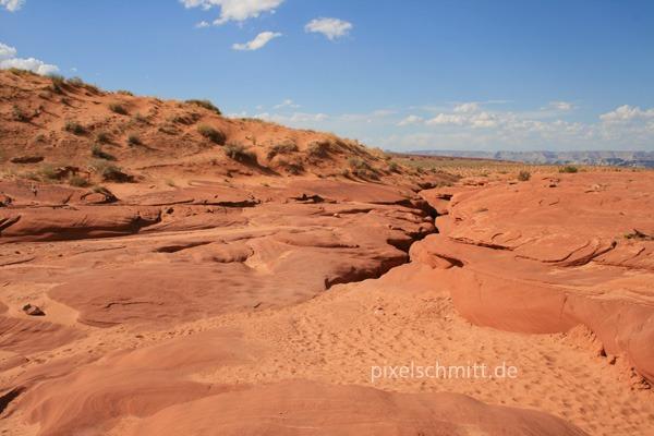 Der Zugang zum Lower Antelope Canyon