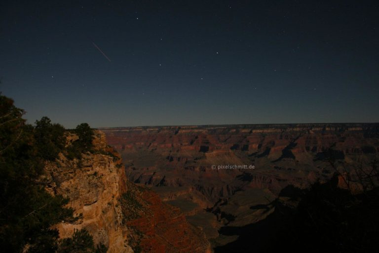 Grand Canyon bei Nacht Sternenhimmel