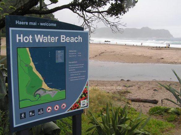 Der Weg zum Hot Water Beach