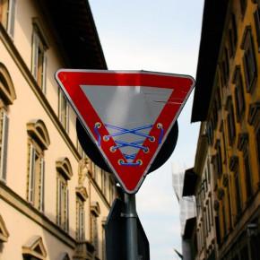 street art florenz verkehrsschild 01