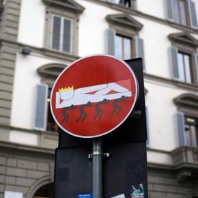 street art florenz verkehrsschild 02