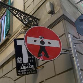 street art florenz verkehrsschild 05