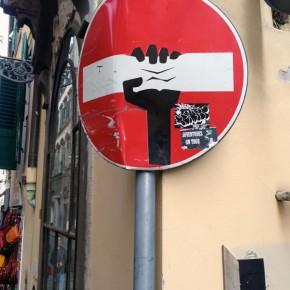 street art florenz verkehrsschild 06