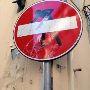 street art florenz verkehrsschild 07