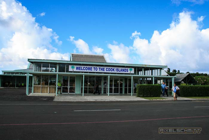 Das Flughafenterminal - Welcome to the Cook Islands