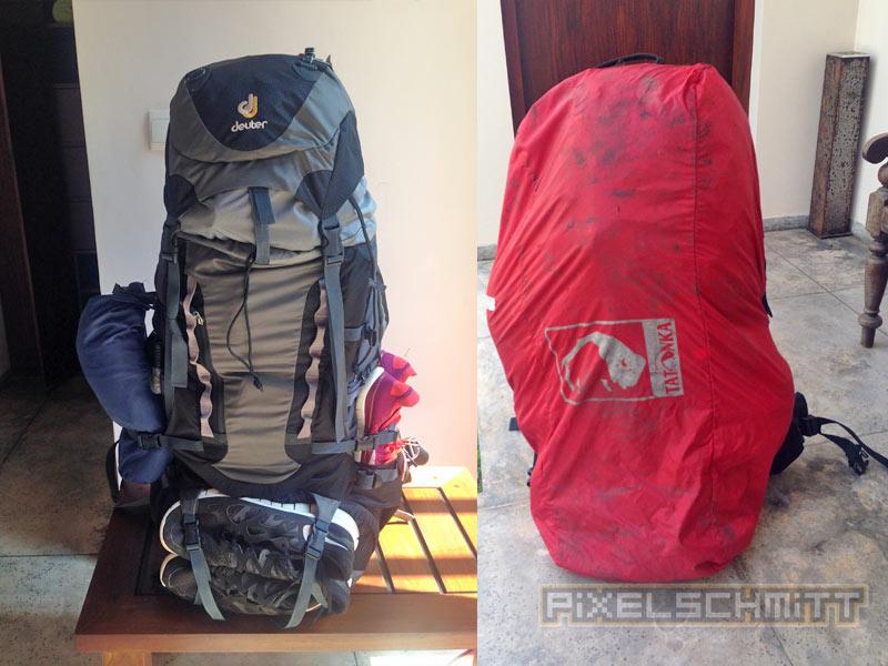Packliste Sri Lanka - unser Rucksack