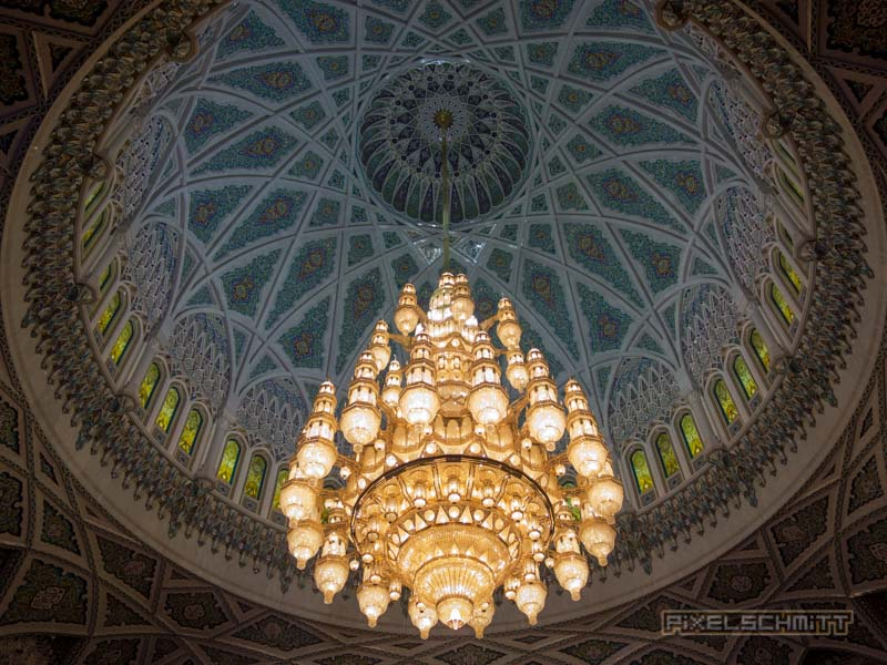 Sultan Qaboos Grand Mosque in Muscat, Oman – Eine Moschee der Superlative