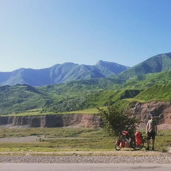 Roman am Khingob-Fluß kurz vor Gorno Badakhshan