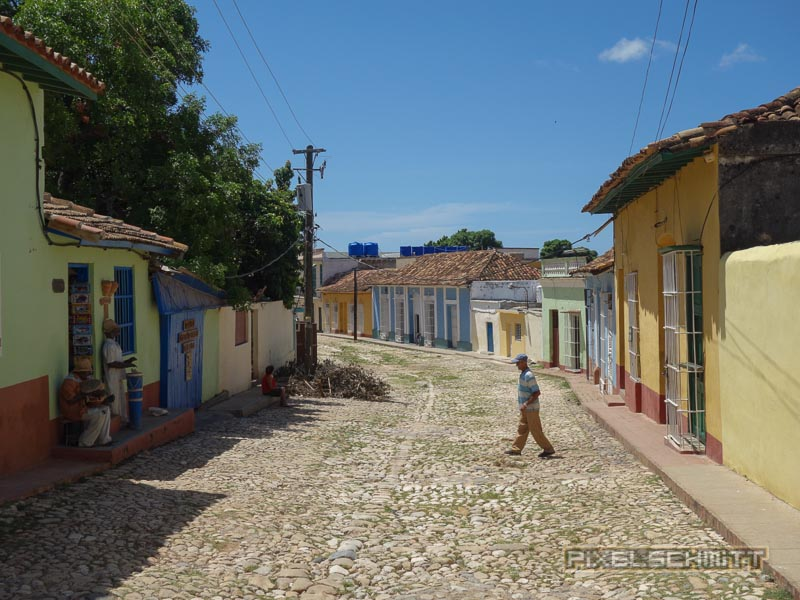 Szene auf Straße in Trinidad