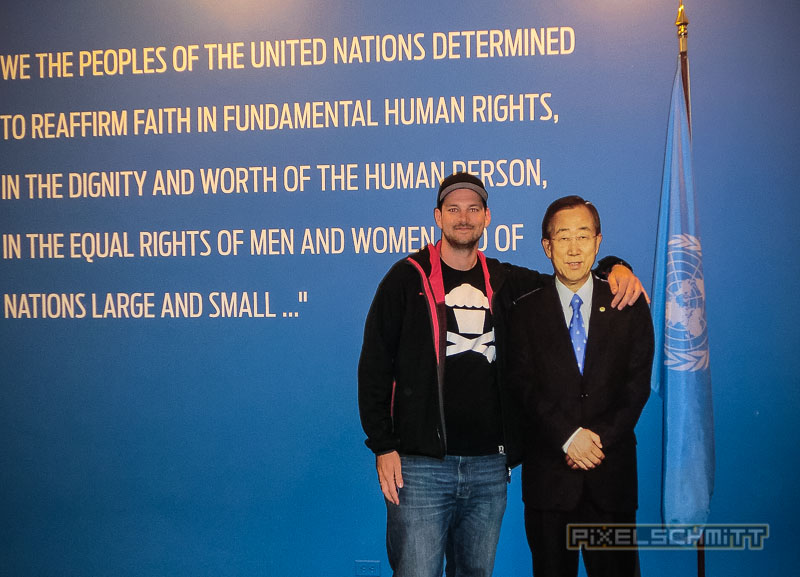 pixelschmitt und der UN-Generalsekretär Ban Ki- moon