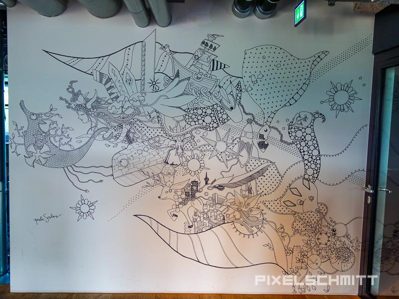 Illustrator Yoshi Sislay im 25hours Hotel Bikini Berlin