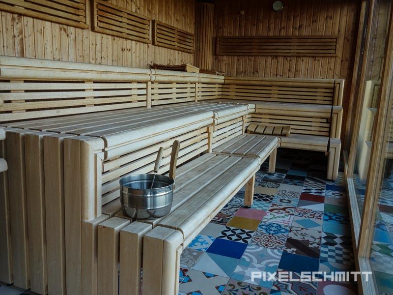 Sauna im 25hours Hotel Bikini Berlin