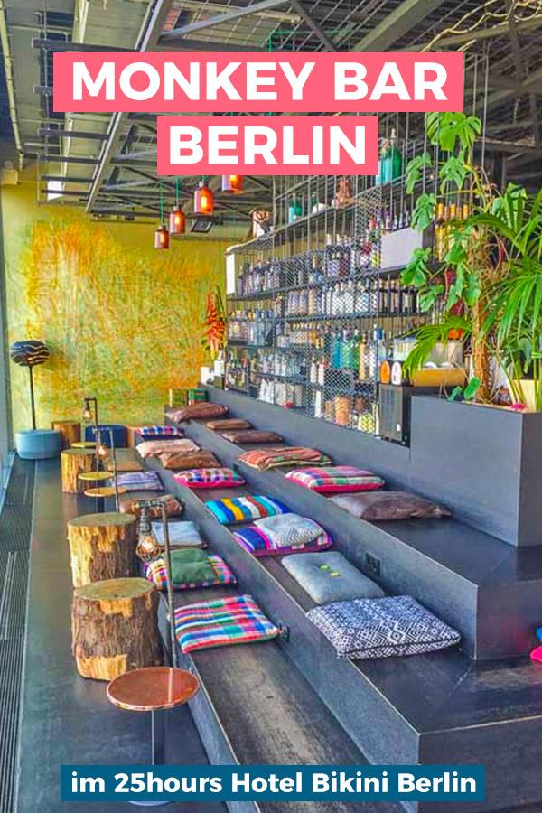 Die Monkey Bar auf dem Dach des 25hours Hotel Bikini Berlin ist richtig spektakulär und bietet einen wunderbaren Panoramablick.