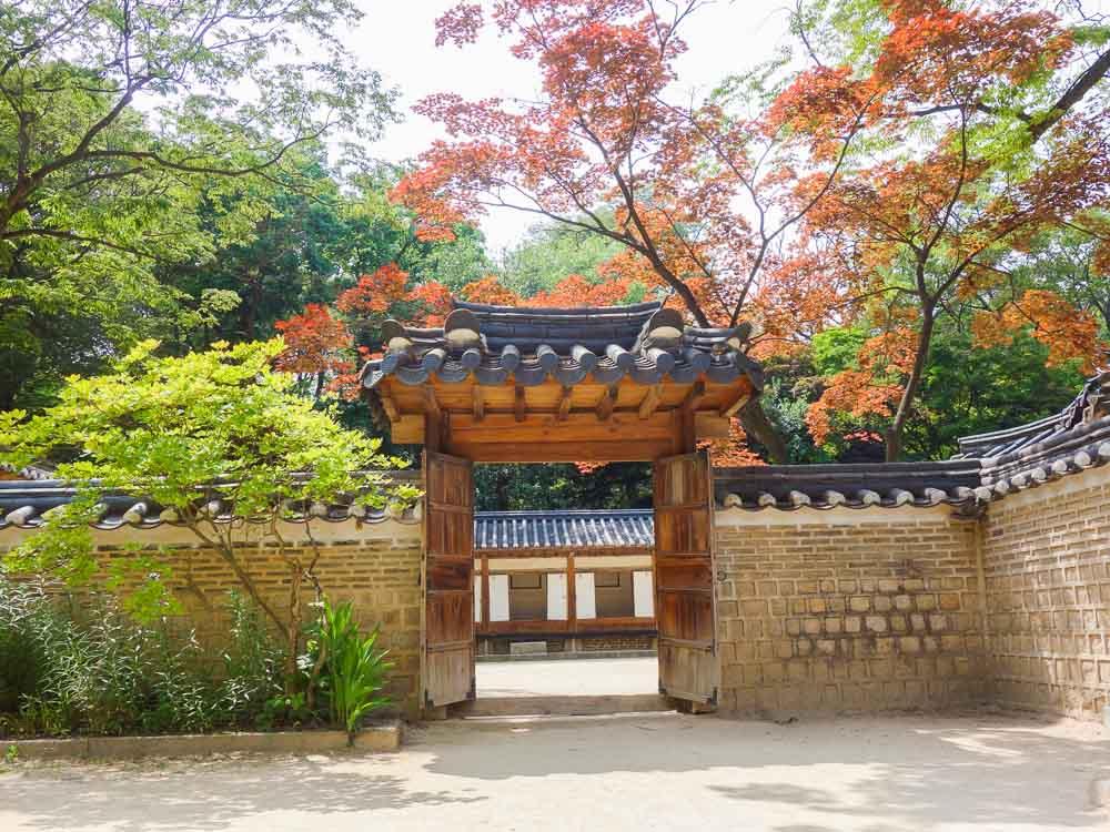 changdeokgung palace garten tor