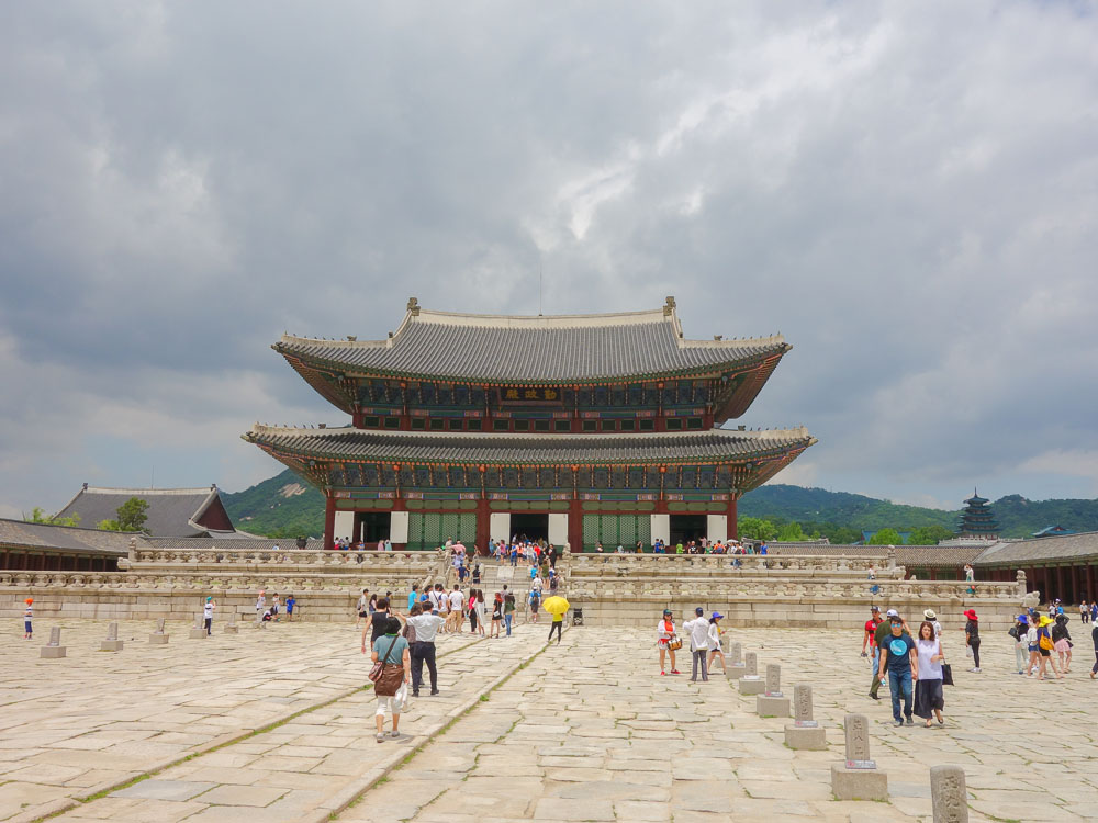 seoul gyeongbokgung palace close up