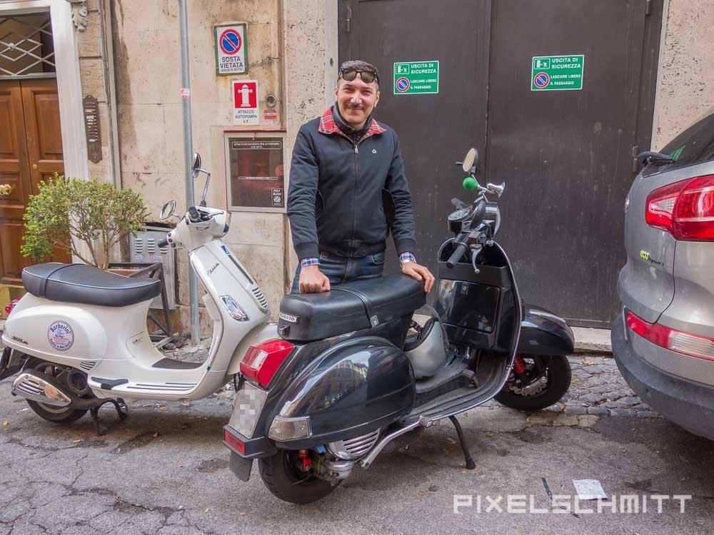 Sehenswürdigkeiten in Rom mit der Vespa erkunden