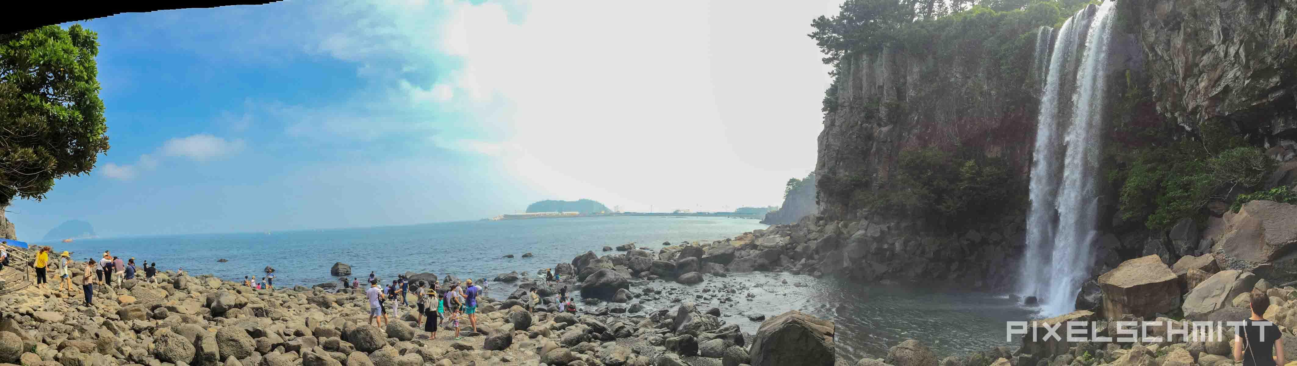 Jeju Island Südkorea Wasserfall