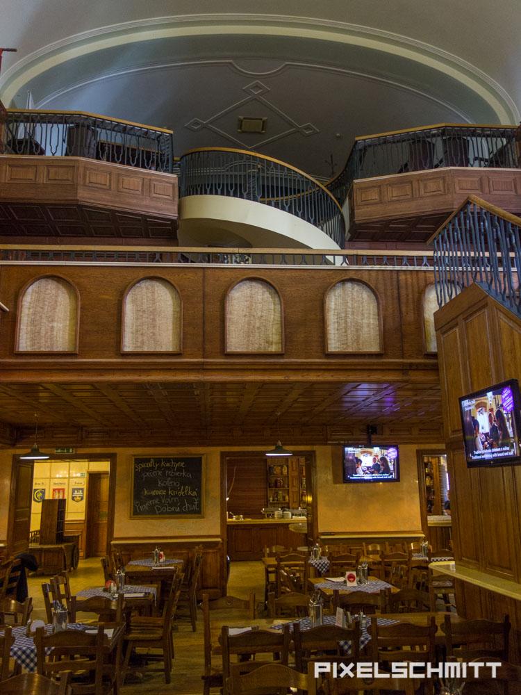 Der alte Kinosaal im Bratislava Flagship Restaurant