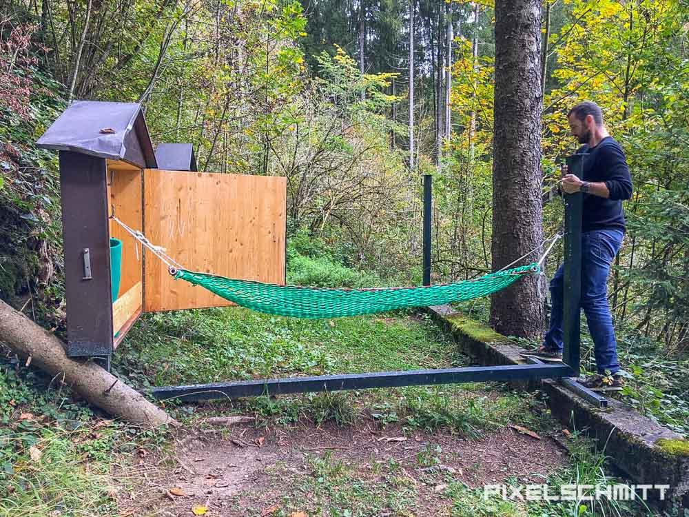 Hängematten im Wald und Wellness im Allgäu