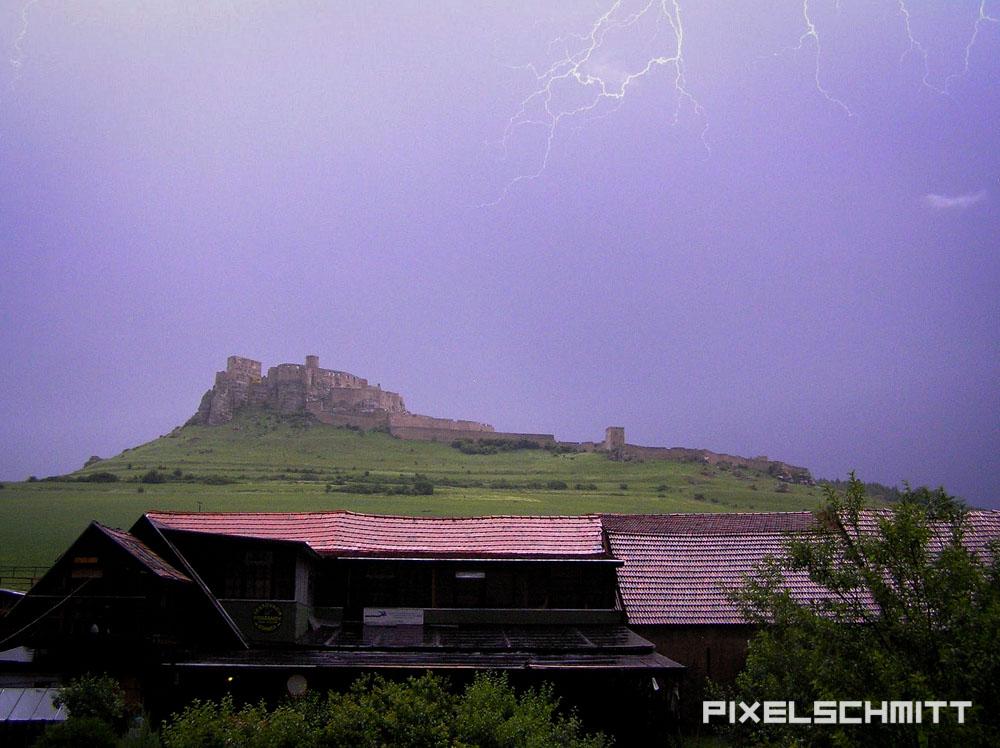 gewitter spissky hrad