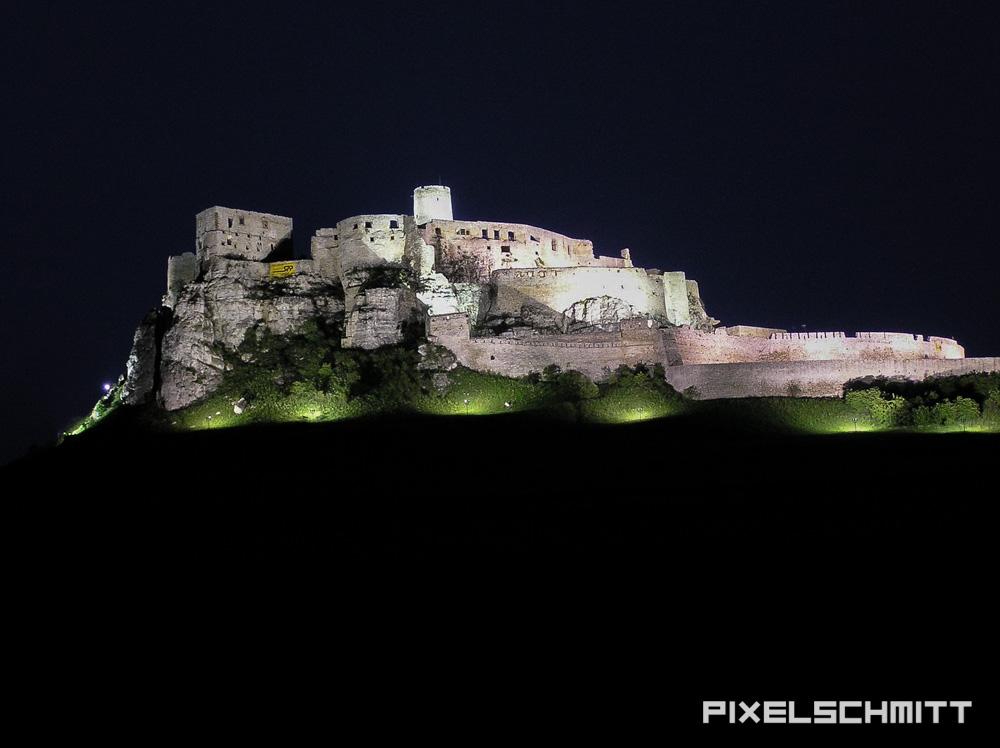 nacht spissky hrad zipser burg