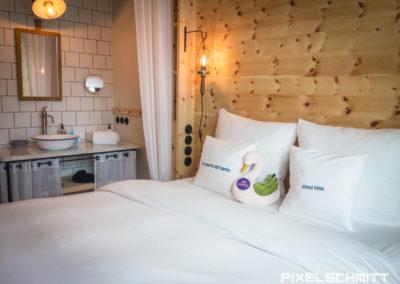 Das Zimmer im 25 Hours Hotel München