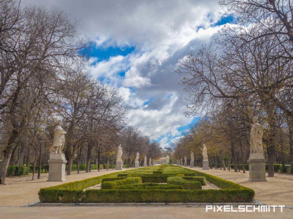 Botanischer Garten von Madrid. Leider während unseres Besuchs wegen Sturmschäden geschlossen