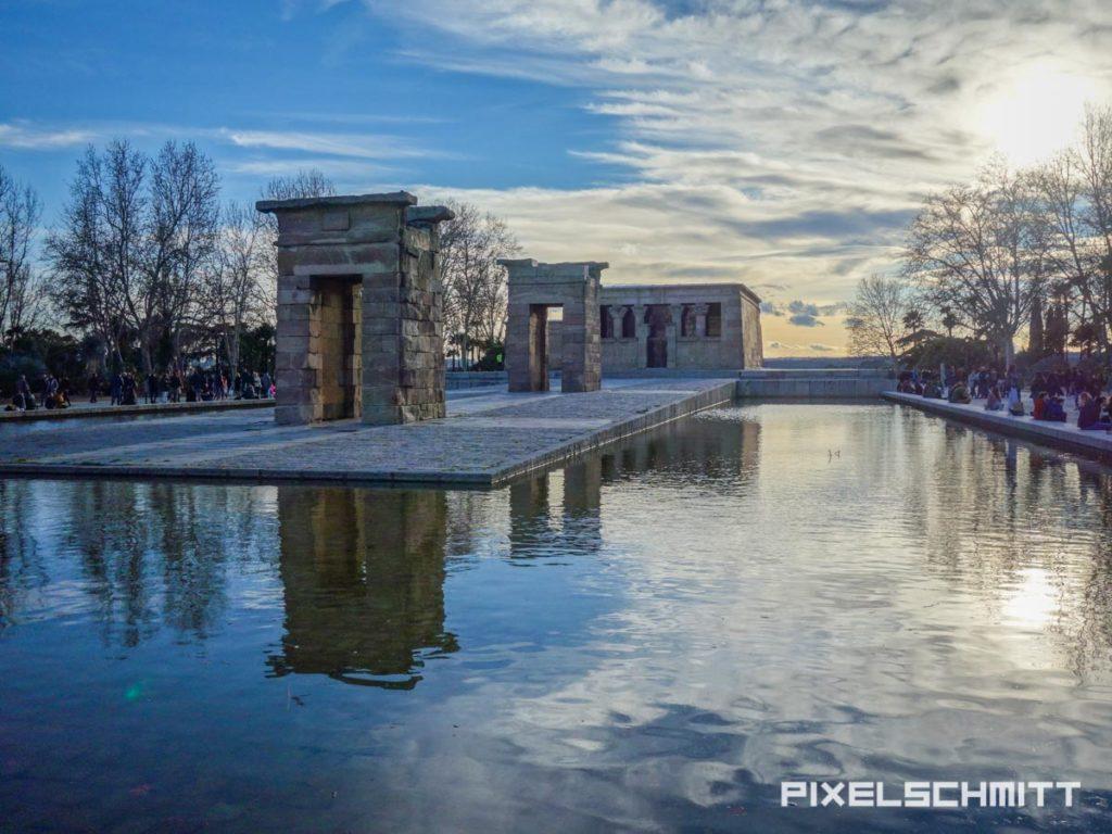 Der Tempel von Debod in Madrid