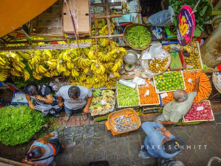 Marktleben in Mauritius