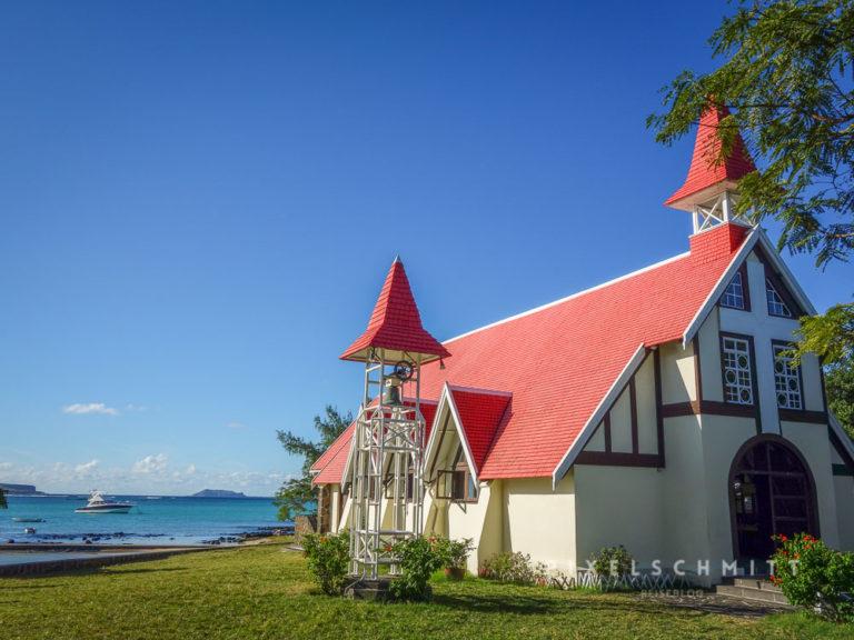 Die Kirche mit dem roten Dach ist einer der Hotspots auf Mauritius