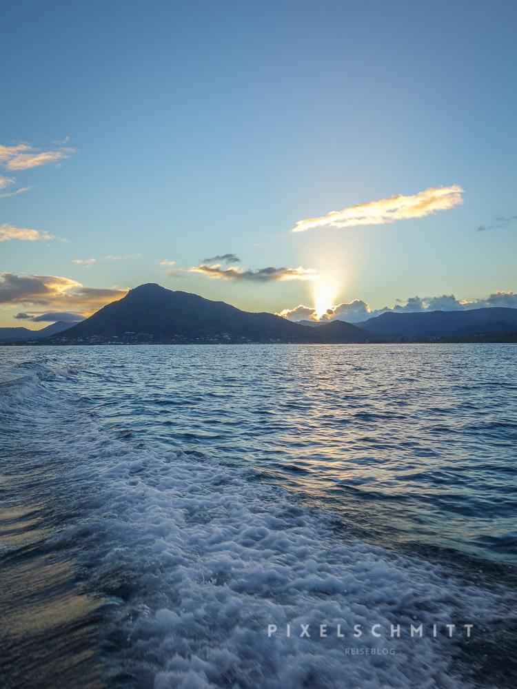 Früh aufstehen wird im Urlaub auf Mauritius belohnt: Was für ein Sonnenaufgang