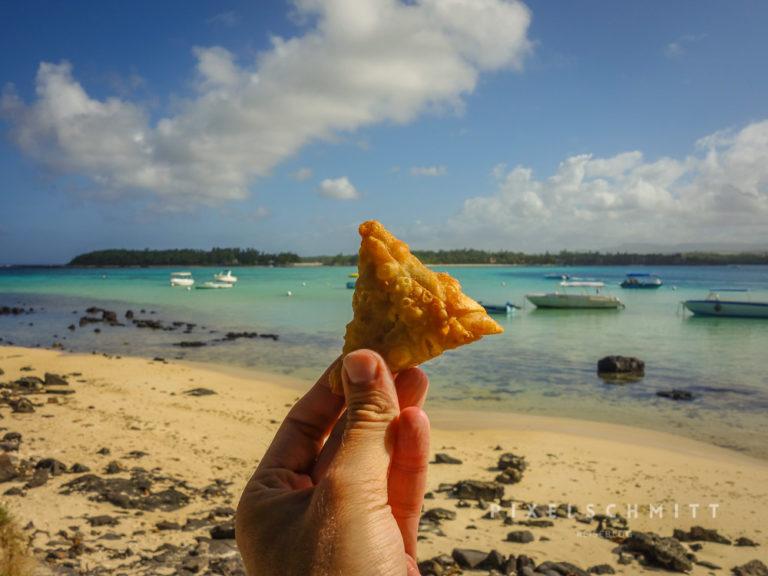Eins der Highlights beim Urlaub in Mauritius: Samosas