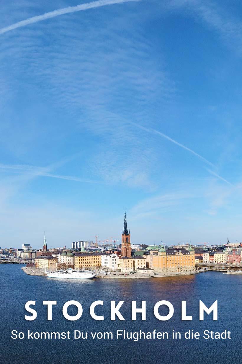 Stockholm: So kommst Du vom Flughafen Arlanda in die Innenstadt