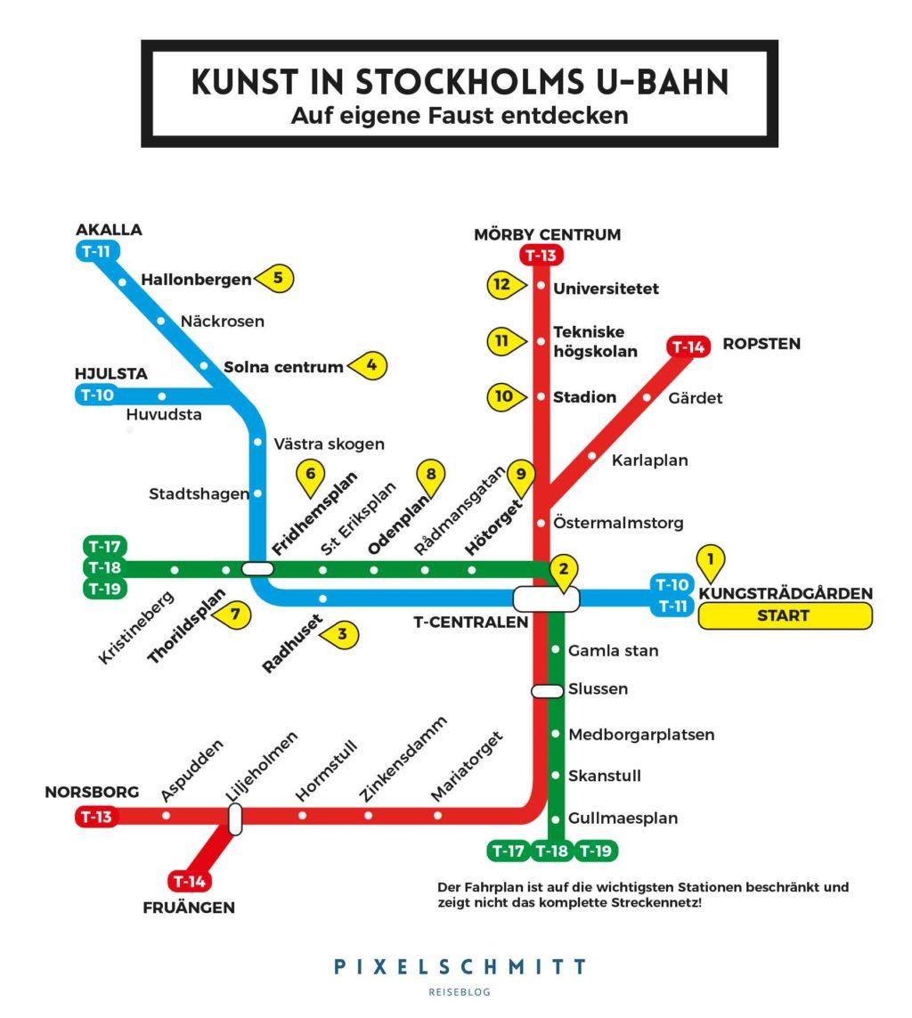 Ein Plan für die Kunst in Stockholms U-Bahn