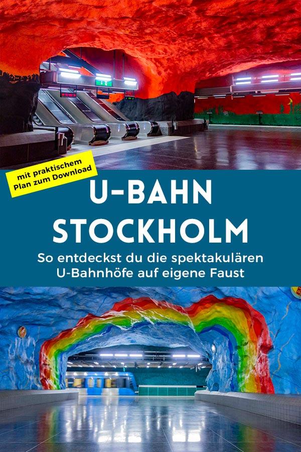 Hier findest du Tipps, wie du in Stockholm die spektakuläre bemalten U-Bahnhöfe auf eigene Faust entdecken kannst.