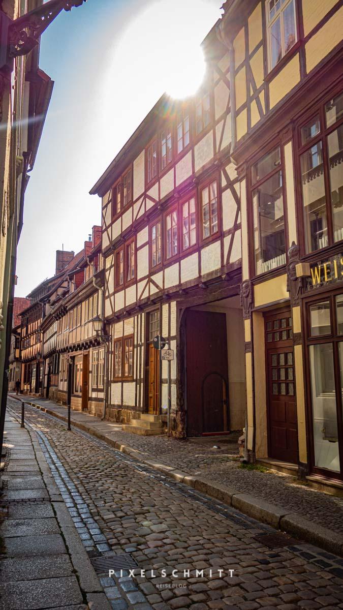 sehenswuerdigkeiten quedlinburg strasse fachwerk