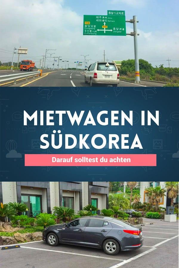 Mietwagen in Südkorea: Darauf solltest du achten