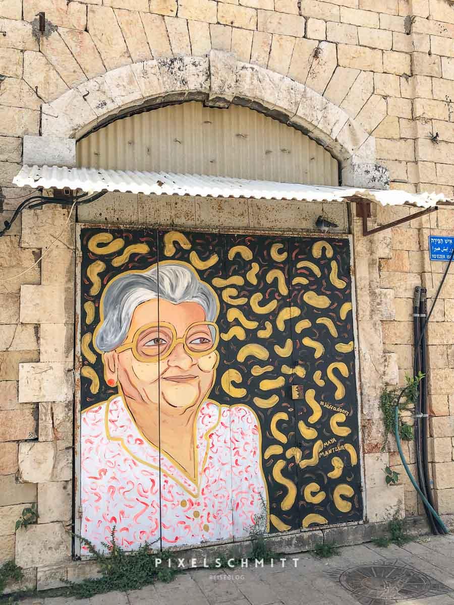 Streetart am Flohmarkt von Jaffa