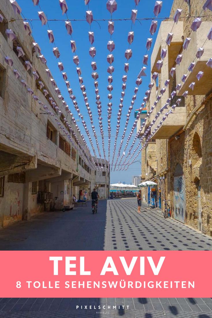 In diesem Artikel stellen wir dir 8 tolle Sehenswürdigkeiten in Tel Aviv vor. Zusätzlich verraten wir dir noch unsere persönlichen Tipps dazu und zeigen dir viele Fotos.