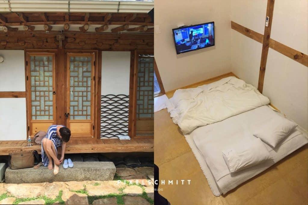 Traditionelles Hotel in Jeonju, Südkorea