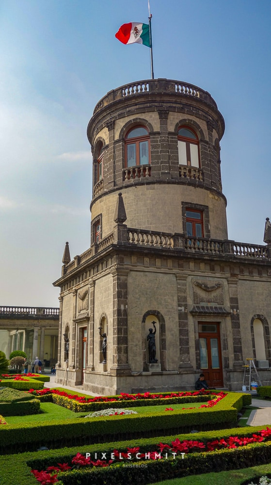 Das Schloss Chapultepec in Mexiko-Stadt