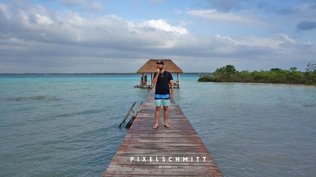 Die Lagune von Bacalar: pixelschmitt am öffentlichen Steg