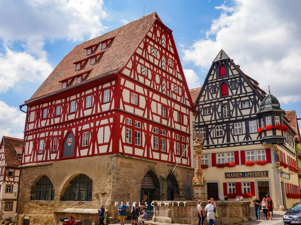 Rothenburg Fachwerkhäuser