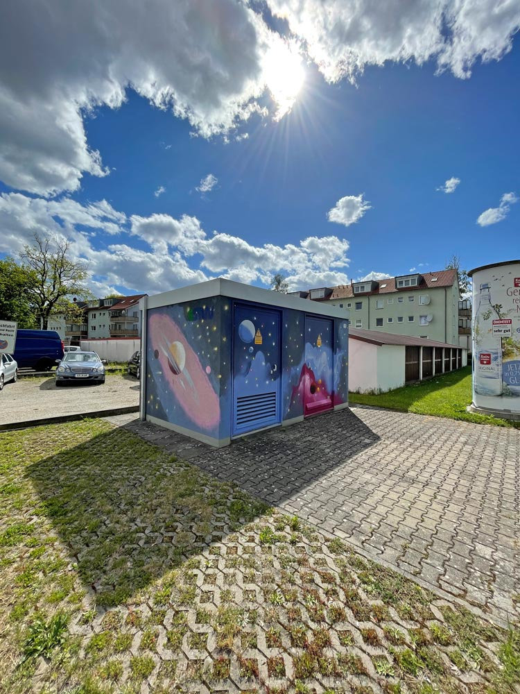 """Graffiti in Erlangen """"Am Anger"""""""
