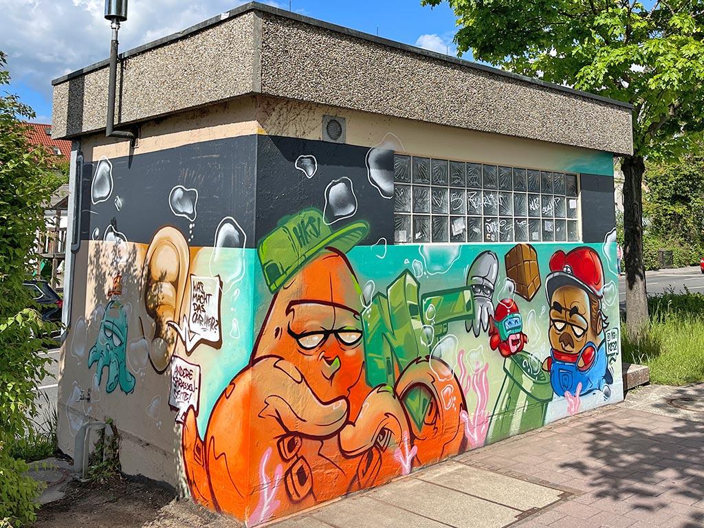 Graffiti am Großparkplatz Erlangen von kl52