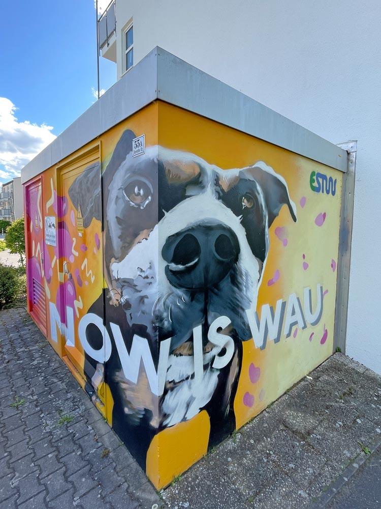 Graffiti in Erlangen von Julian Vogel an der Bergkirchweih