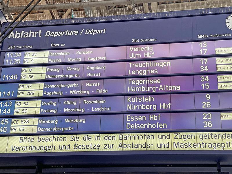 Mit dem Zug nach Italien