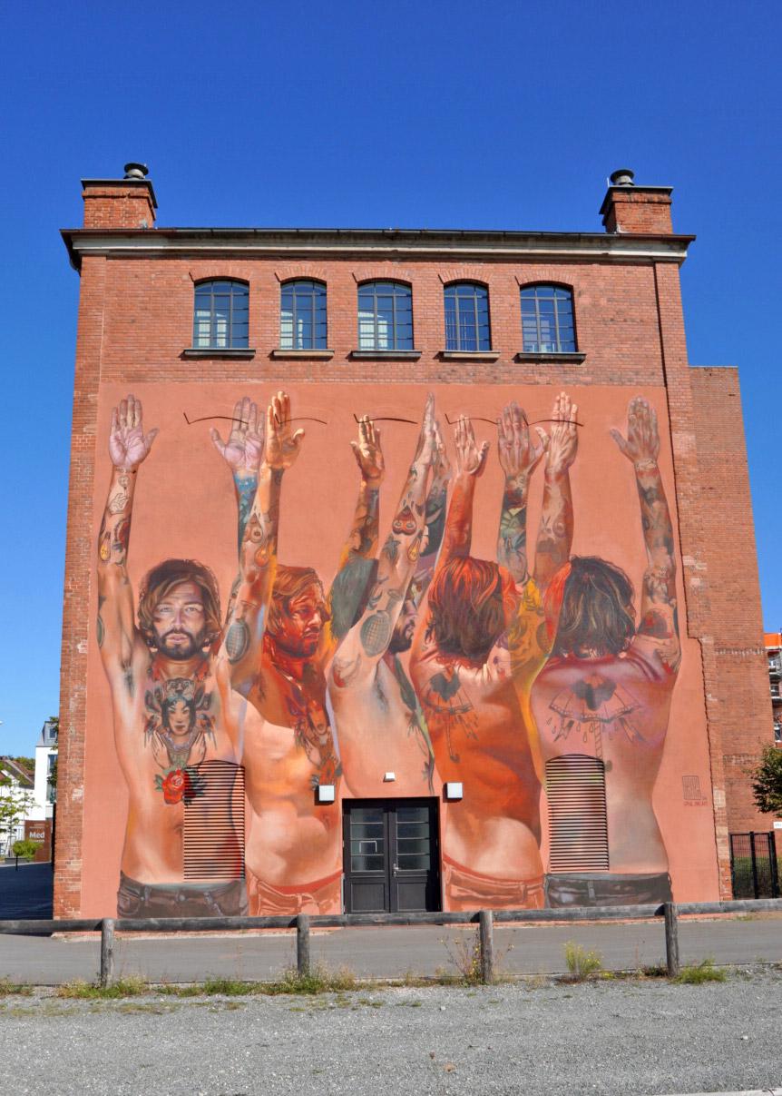 Street Art und Graffiti in Erlangen: Der Röntgenmann am Siemens Med Museum