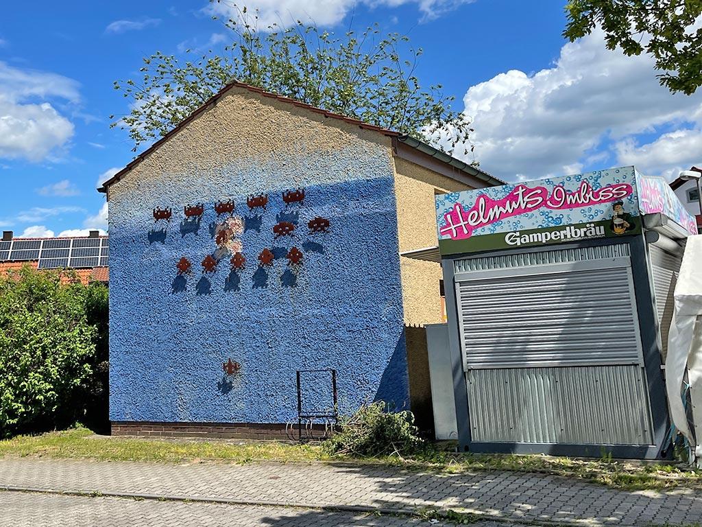 Space Invader Installation in Erlangen-Tennenlohe